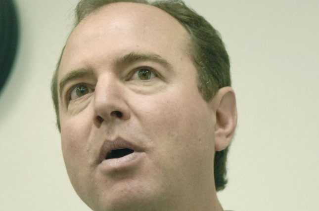Rep. Adam Schiff (D-CA) speaks at a press conference held by the Congressional International Piracy Caucus. (UPI Photo/Kevin Dietsch)