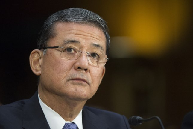 Eric K. Shinseki, Secretary of Veterans Affairs, testifies during a Senate Veterans Affairs Committee hearing on the state of veteran's health care, in Washington, D.C. on May 15, 2014. UPI/Kevin Dietsch