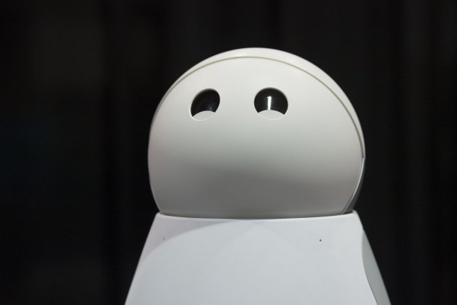 Kuri, a home robot designed with a 'cheerful' personality, is displayed at Unveiled, ahead of the 2017 International CES, a trade show of consumer electronics, in Las Vegas, Nevada, January 3, 2017. Photo by Molly Riley/UPI