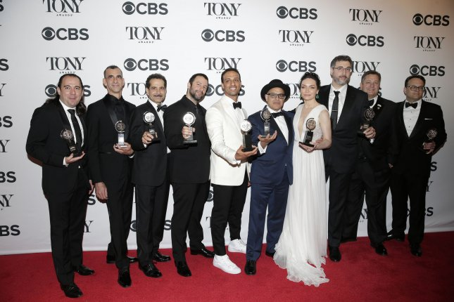 The Band's Visit won the Tony Award for Best Musical in 2018. The 2019 edition of the Tonys is to take place at Radio City Music Hall in New York City on June 9. File Photo by John Angelillo/UPI