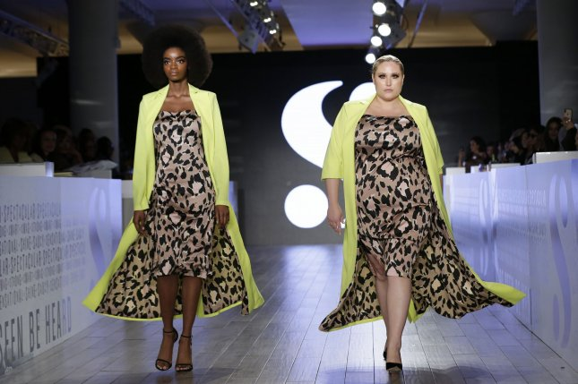 Models walk on the runway at the S by Serena Williams fashion show at Metropolitan West639 during New York Fashion Week. Photo by John Angelillo/UPI