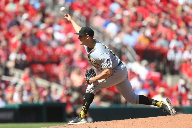 Pittsburgh Pirates starting pitcher Jameson Taillon delivers a pitch to the St. Louis Cardinals in the seventh inning on September 12 at Busch Stadium in St. Louis. Photo by Bill Greenblatt/UPI