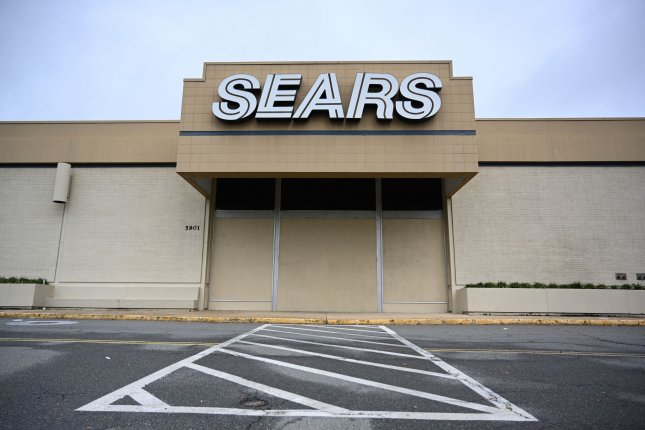 A Sears store in Alexandria, Va., is seen closed and boarded up. File Photo by Pat Benic/UPI