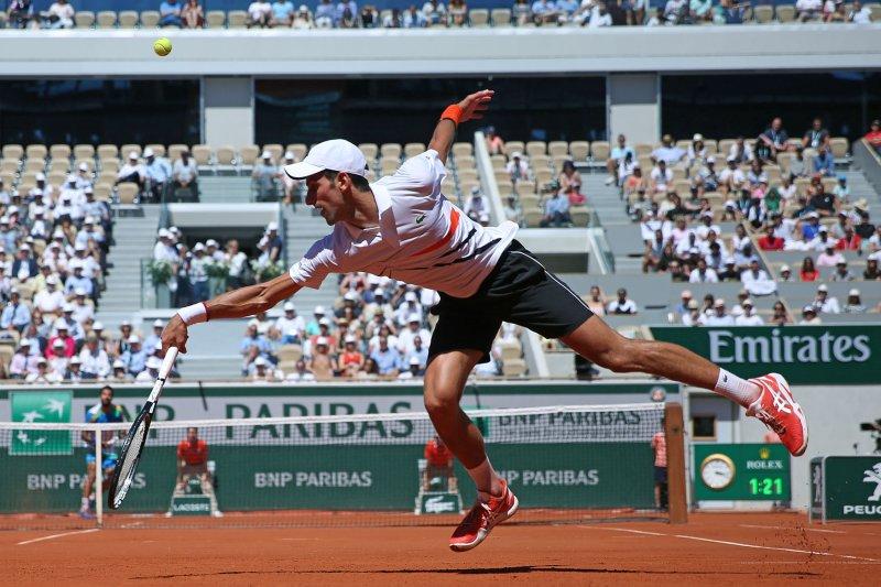 Novak Djokovic advanced to the fourth round of the French Open on Saturday. Photo by David Silpa/UPI