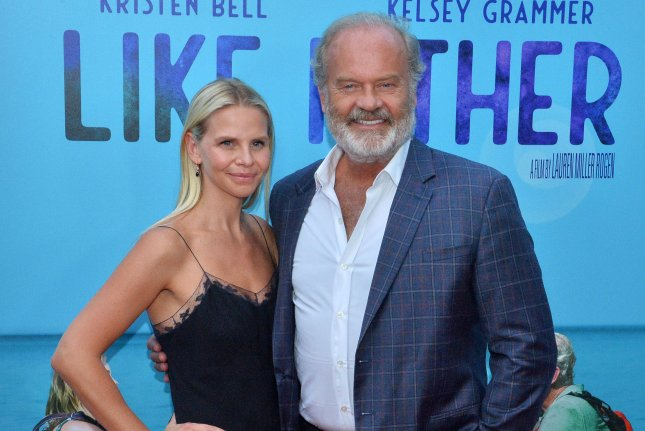 Kelsey Grammer (R), pictured with Kayte Grammer, will narrate the neo-noir mystery podcast The Lower Bottoms. File Photo by Jim Ruymen/UPI