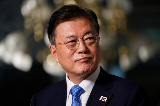 """South Korean President Moon Jae-in ordered a """"careful consultation"""" regarding upcoming U.S.-Korea military exercises, according to a South Korean press report Wednesday. File Photo by Ting Shen/UPI"""