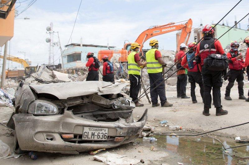 Ecuador's 7.8-magnitude earthquake in April killed at least 663 people. The Ecuadorian government estimates reconstruction costs to be $3.3 billion. File Photo by Ezra Kaplan/UPI