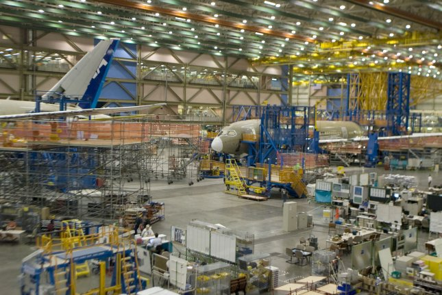 The machinists' union that represents Boeing workers said about 1,500 machinists will accept a buyout offer that includes one week of severence pay for every year of service and six months of medical coverage. File Photo by Jim Bryant/UPI