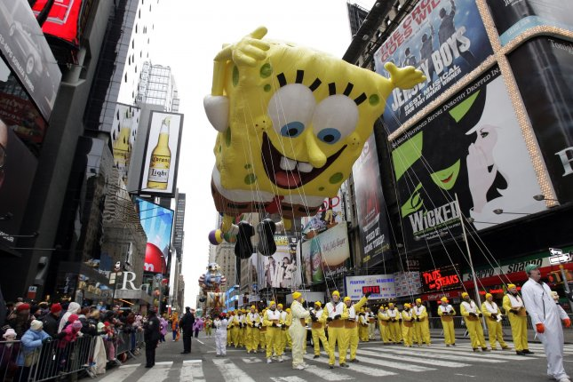 A SpongeBob SquarePants-inspired musical will hit Broadway starting this November. Tickets go on sale June 26. File Photo by John Angelillo/UPI