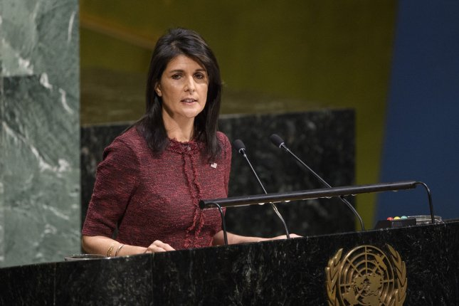 Nikki Haley said President Donald Trump hasn't made a turnaround regarding his stance on North Korea negotiations, stating he has said the country must first abandon its pursuit of nuclear weapons. Photo by Manuel Elias/UN Handout