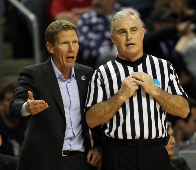 Coach Mark Few and Gonzaga take on BYU in the WCC Championship game Thursday. Photo by Jim Bryant/UPI