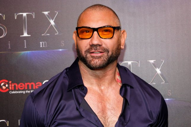 Dave Bautista stars with Kumail Nanjiani in the first trailer for Stuber. File Photo by James Atoa/UPI