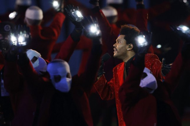 The Show, a documentary giving a behind-the-scenes look at The Weeknd's Super Bowl LV halftime show, is coming to Showtime. File Photo by John Angelillo/UPI