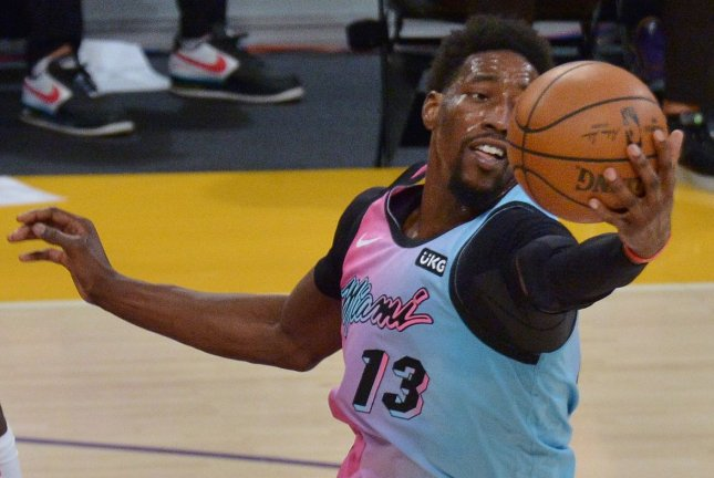Miami Heat forward/center Bam Adebayo ended an 8-0 run with a game-winning shot against the Brooklyn Nets on Sunday in Miami. File Photo by Jim Ruymen/UPI