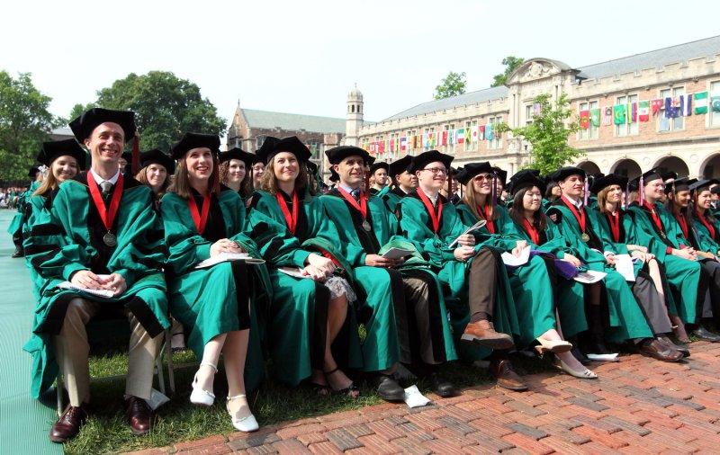 Graduation day at the Washington University in St. Louis on May 20, 2011. File/UPI/Bill Greenblatt