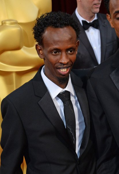 Actor Barkhad Abdi arrives on the red carpet at the 86th Academy Awards on March 2, 2014. File Photo by Jim Ruymen/UPI