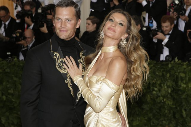 Tom Brady and Gisele Bundchen arrive on the red carpet at The Metropolitan Museum of Art's Costume Institute Benefit Heavenly Bodies: Fashion and the Catholic Imagination on Sunday at Metropolitan Museum of Art in New York City. Photo by John Angelillo/UPI