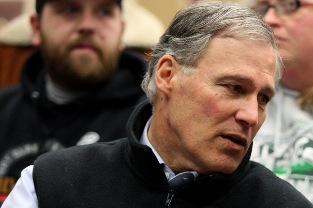 In his presidential campaign, Washington Gov. Jay Inslee is targeting $20 billion in yearly federal subsidies given the oil, gas and coal companies in his plan to fight climate change.  File Photo by Jim Bryant/UPI