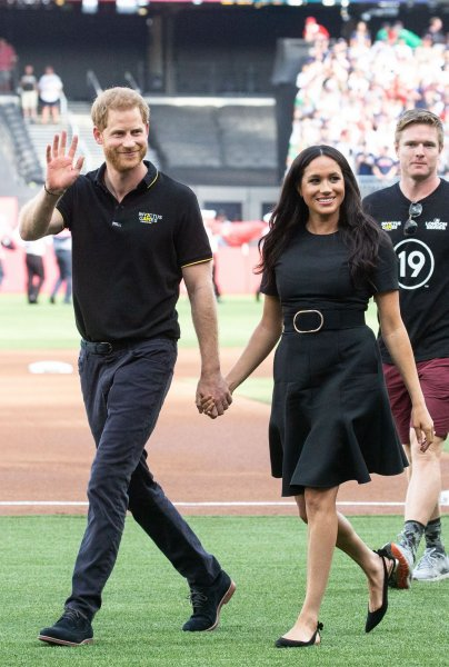 The Canadian government said Thursday it will cease assisting in providing security for Prince Harry and his wife Meghan when they officially scale back their duties as Duke and Duchess of Sussex on March 31. File Photo by Mark Thomas/UPI