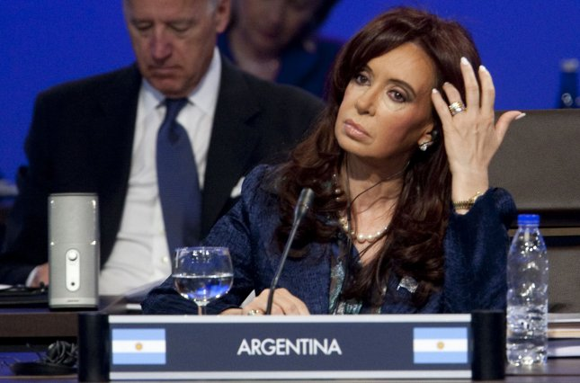 Argentine President Cristina Fernandez de Kirchner reshuffled the country's military command in a follow-up to an earlier ministerial shake-up that sent the defense minister to internal security. 2010 file photo. UPI/Andrew Harrer/Pool