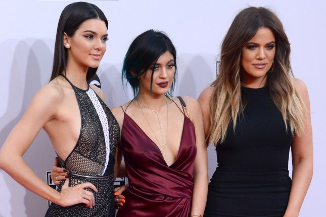 Kendall Jenner (L) with sisters Kylie Jenner (C) and Khloe Kardashian. Photo by Jim Ruymen/UPI