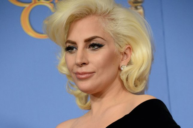 Singer/actress Lady Gaga appears backstage during the 73rd annual Golden Globe Awards in Beverly Hills on January 10, 2016. Photo by Jim Ruymen/UPI