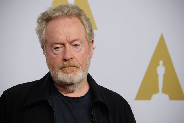 Director Ridley Scott attends the 88th annual Academy Awards Oscar nominees luncheon in Beverly Hills on February 8, 2016. Photo by Jim Ruymen/UPI