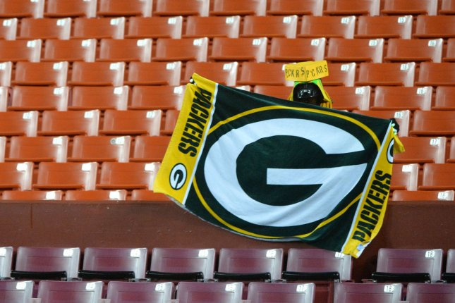 A loan Green Bay Packers fan dressed as Darth Vader cheers on his team at FedEx Field in Landover, Maryland. File Photo by Kevin Dietsch/UPI