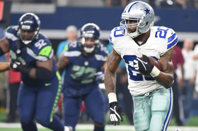 Dallas Cowboys running back Darren McFadden will be waived on Monday, according to multiple reports. File photo by Ian Halperin/UPI