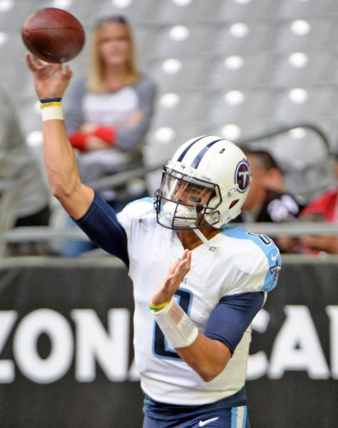 Marcus Mariota and the Tennessee Titans escaped the Kansas City Chiefs in the AFC wild-card game on Saturday. Photo by Art Foxall/UPI