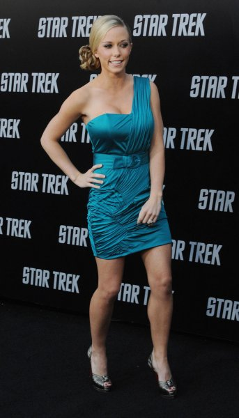 Kendra Wilkinson attends the premiere of the sci-fi adventure motion picture Star Trek in Los Angeles April 30.
