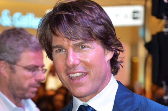 Actor Tom Cruise attends the premiere of film Mission: Impossible - Rogue Nation in Seoul, South Korea on July 30, 2015. Cruise recreated his film career with James Corden Wednesday on the Late Late Show. File Photo by Keizo Mori/UPI