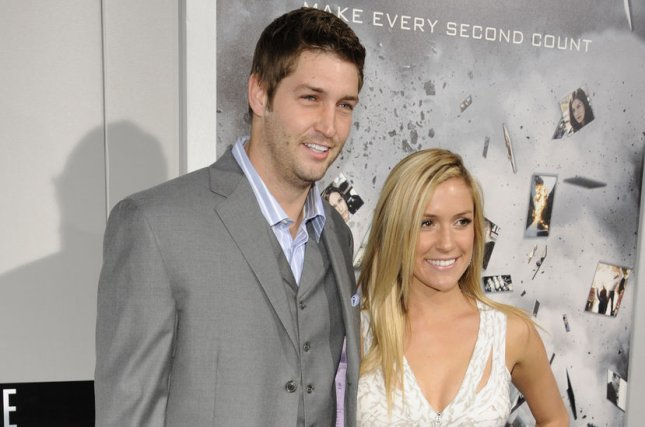 Kristin Cavallari (R) and Jay Cutler at the Los Angeles premiere of Source Code on March 28, 2011. File Photo by Phil McCarten/UPI