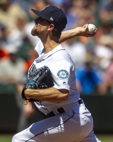 Mike Leake and the Seattle Mariners face the Baltimore Orioles on Wednesday. Photo by Jim Bryant/UPI