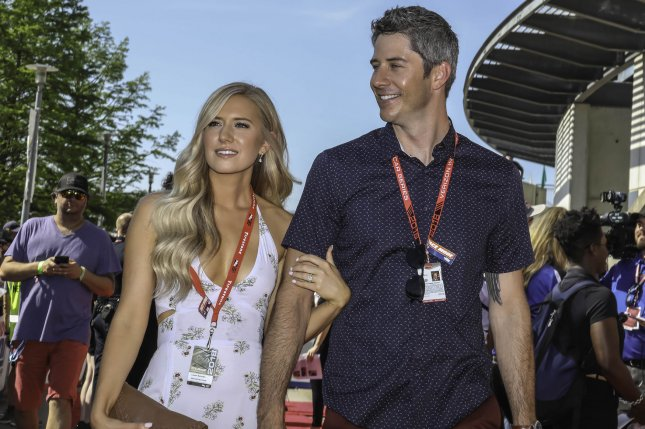 Bachelor stars Lauren Burnham and Arie Luyendyk Jr. exchanged wedding vows in Hawaii Saturday. File Photo by Edwin Locke/UPI