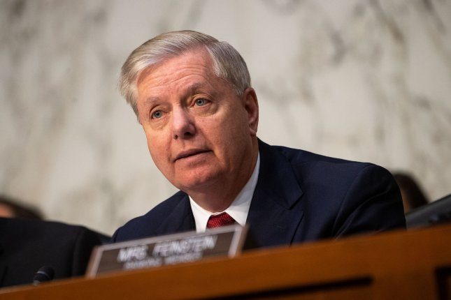 A drawdown of U.S. troops in Afghanistan can be expected by the end of the week, Sen. Lindsey Graham, R-S.C., said in Kabul on Monday. Photo by Kevin Dietsch/UPI