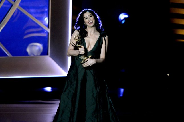 Sarah Silverman, seen here accepting an Emmy in August 2014, has received the Adrienne Shelly Foundation's Woman of Vision Award. UPI/Pat Benic