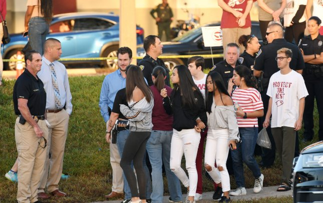 The Broward County School Board voted to put extra security in the school four months after a mass shooting at Marjory Stoneman Douglas High School in Parkland, Fla. File Photo by Gary Rothstein/UPI
