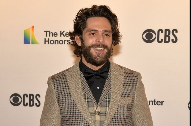 Thomas Rhett discussed his three daughters and performed What's Your Country Song on The Ellen DeGeneres Show. File Photo by Mike Theiler/UPI