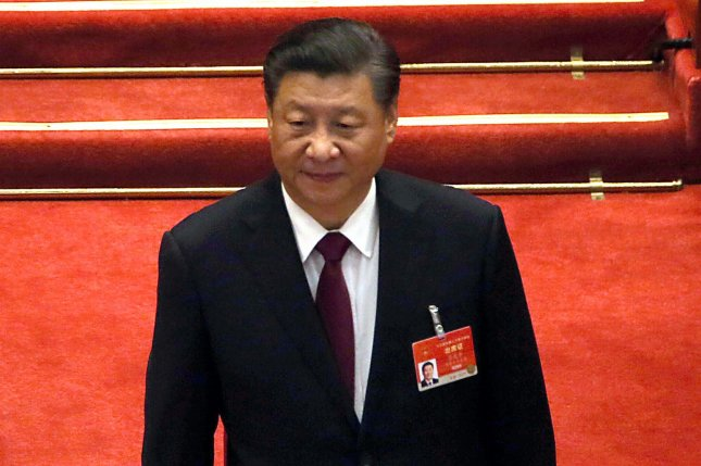 """Chinese leader Xi Jinping could be distancing himself from the """"wolf warrior diplomacy"""" that defined Chinese policy during the Trump administration as the world moves past the coronavirus pandemic. File Photo by Stephen Shaver/UPI"""