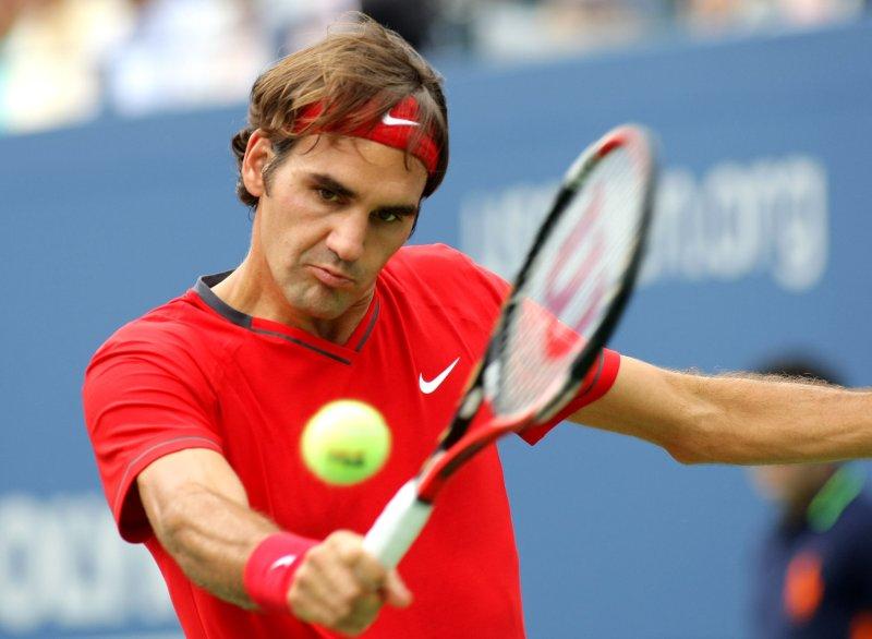 Roger Federer of Switzerland at the U.S. Open held at the National Tennis Center on September 10, 2011 in New York. UPI/Monika Graff