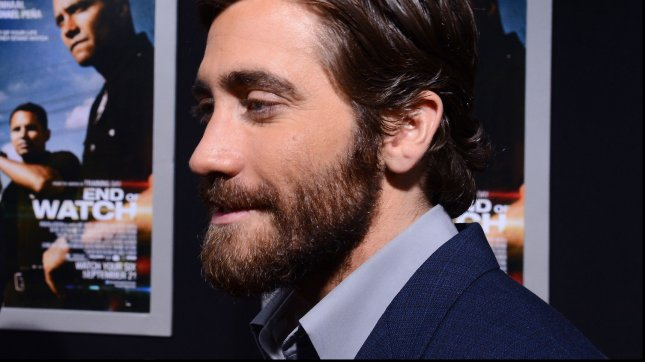 Jake Gyllenhaal, a cast member in the motion picture crime thriller End of Watch, attends the premiere of the film at Regal Cinemas L.A. Live in Los Angeles on September 17, 2012. UPI/Jim Ruymen