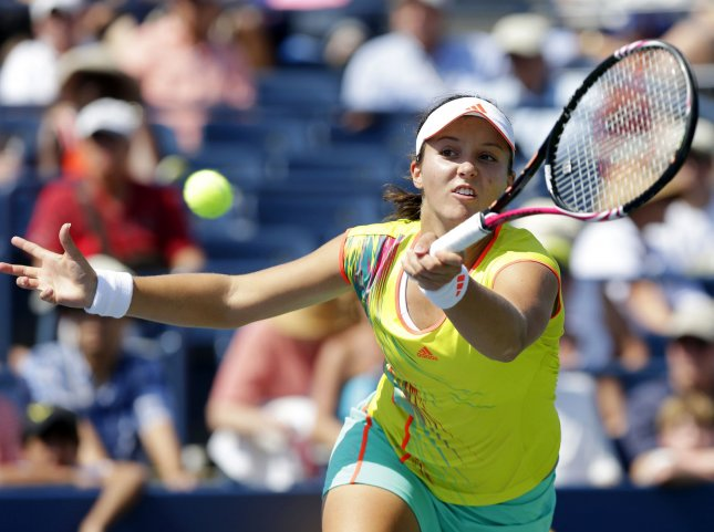 Laura Robson, shown at the 2012 U.S. Open defeated world No. 4 Agnieszka Radwanska in a second-round match Monday at the Madrid Open. UPI/John Angelillo