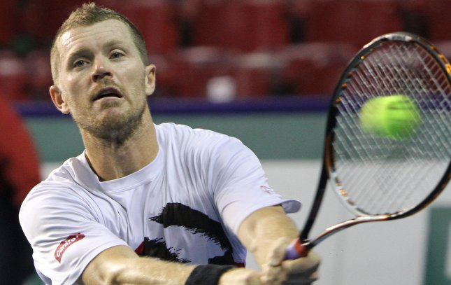 Alex Bogomolov Jr., shown in a file photo from last November, was a straight-set winner Tuesday in first-round action of the PBZ Zagreb Indoors tennis tournament in Croatia. UPI/David Silpa