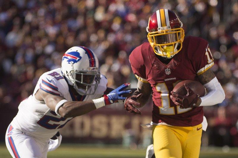 Washington Redskins wide receiver DeSean Jackson (11). Photo by Kevin Dietsch/UPI