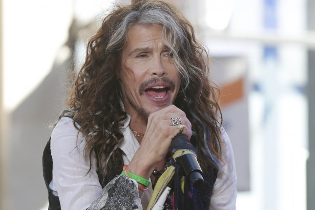 Steven Tyler performs on NBC's Today on June 24, 2016. Aerosmith has canceled four shows in South America as Tyler sought immediate care. File Photo by John Angelillo/UPI
