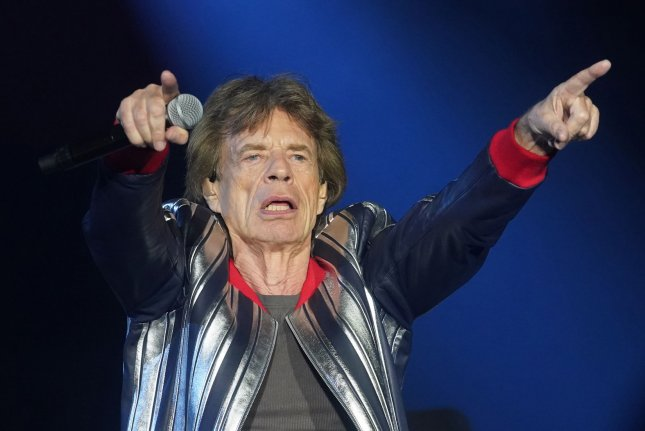 Mick Jagger and the Rolling Stones perform on their No Filter tour in St. Louis on Sunday. Photo by Bill Greenblatt/UPI