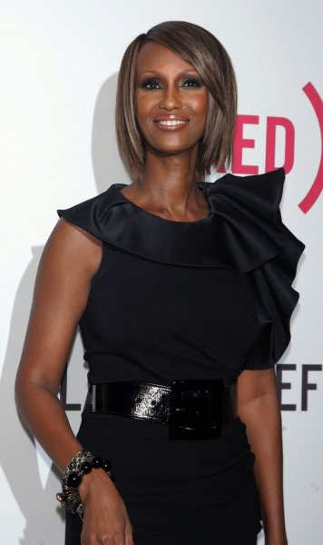 Iman arrives for the premiere of The Lazarus Effect at the Museum of Modern Art in New York on May 4, 2010. UPI /Laura Cavanaugh