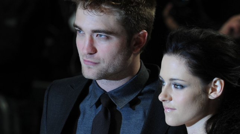 British actor Robert Pattinson and American actress Kristen Stewart attend the premiere of The Twilight Saga: Breaking Dawn: Part One at Westfield Stratford in London on November 16, 2011. UPI/Rune Hellestad