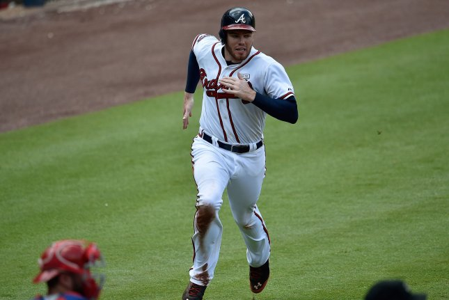 Atlanta Braves' Freddie Freeman. UPI/David Tulis